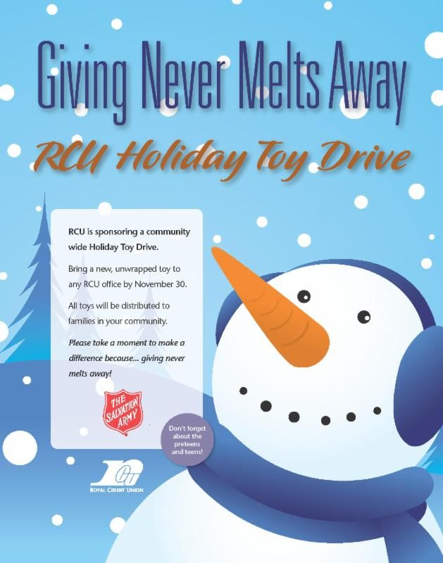 RCU Holiday Toy Drive | Christmas flyer, Holiday, Holidays events