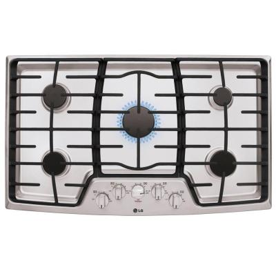 Lg Electronics 36 In Gas Cooktop In Stainless Steel With 5