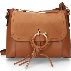 See By Chloé Handtasche Joan Rindsleder Logo metallisch beige Chloé #seebychloe