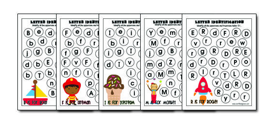 LETTER IDENTIFICATION PRINTABLES