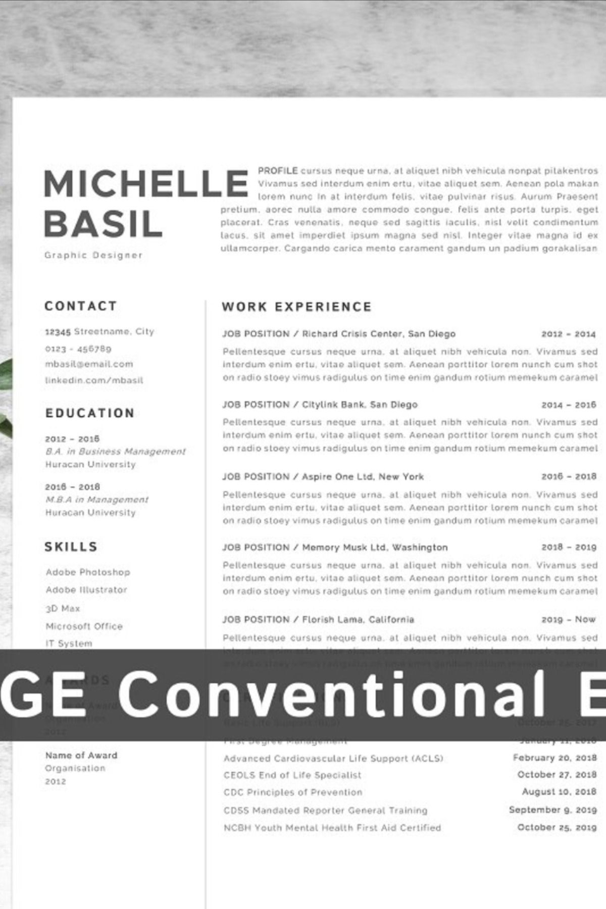 Resume Template CV in 2020 Free resume template download