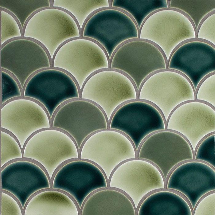 American Handmade Ceramic Tile Pratt And Larson Multicolor Mosaic