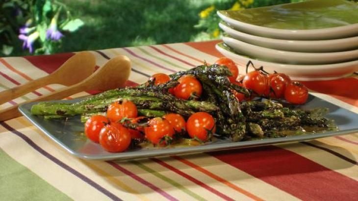 Image result for asparagus and tomato skewers