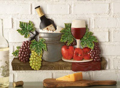 Amazon Com Fruit And Wine Vineyard Metal Wall Art Wine Wall Art Metal Wall Art Wine Decor