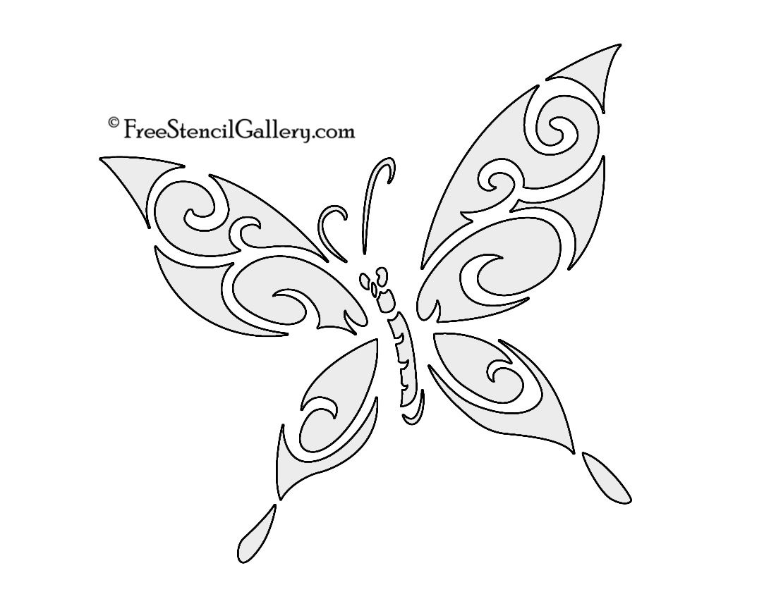 Butterfly stencils printable butterfly stencil 03 projects to resultado de imagen para free printable patterns for metal embossing amipublicfo Gallery