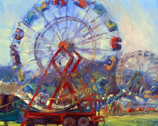 august 30  2012 a ferris wheel painting done at the blue hill fair today