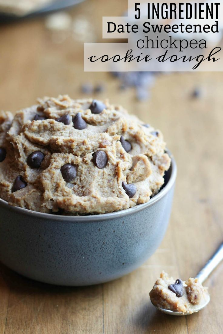 5 Ingredient Date Sweetened Chickpea Cookie Dough   The Conscientious Eater