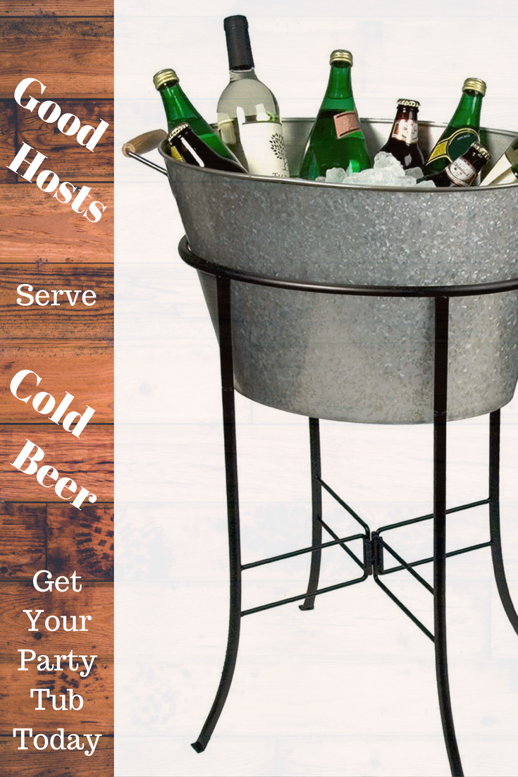 Party Tub With Stand Galvanized Metal The Artland Oasis Party Tub Is The Perfect Drink Cooling Tub For Your Next E Party Tub House Decor Rustic Tub