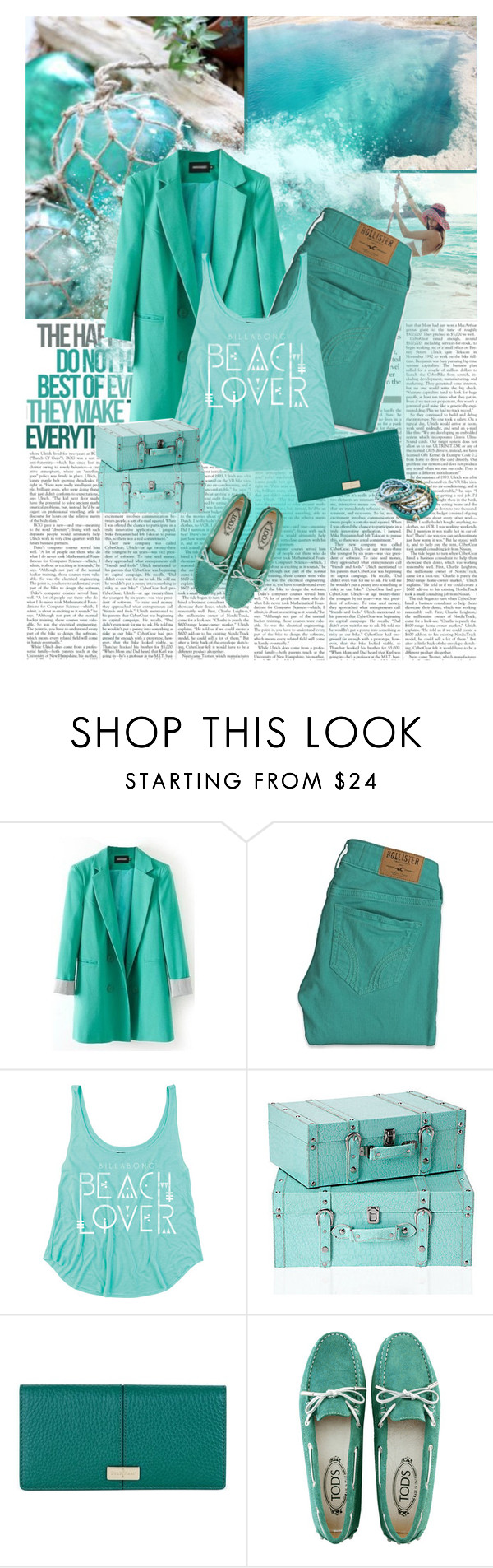 """""""Wonder of The Seas"""" by finish ❤ liked on Polyvore featuring Chanel, Hollister Co., Cole Haan, Tod's, Blue, mint and cyan"""