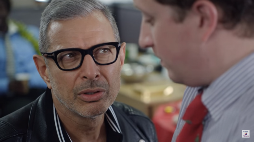 0753ac6182 Jeff Goldblum wearing Tom Ford FT5288 glasses in the latest Currys PC World  ad