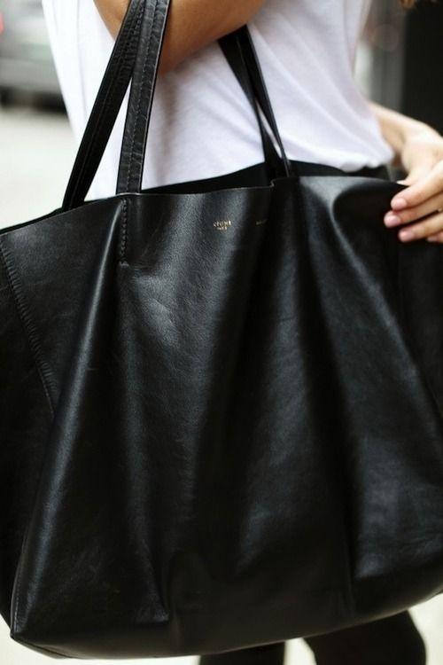 aa3aa66c257f Made Women s Kips E W Leather Tote Bag – Black. View large image