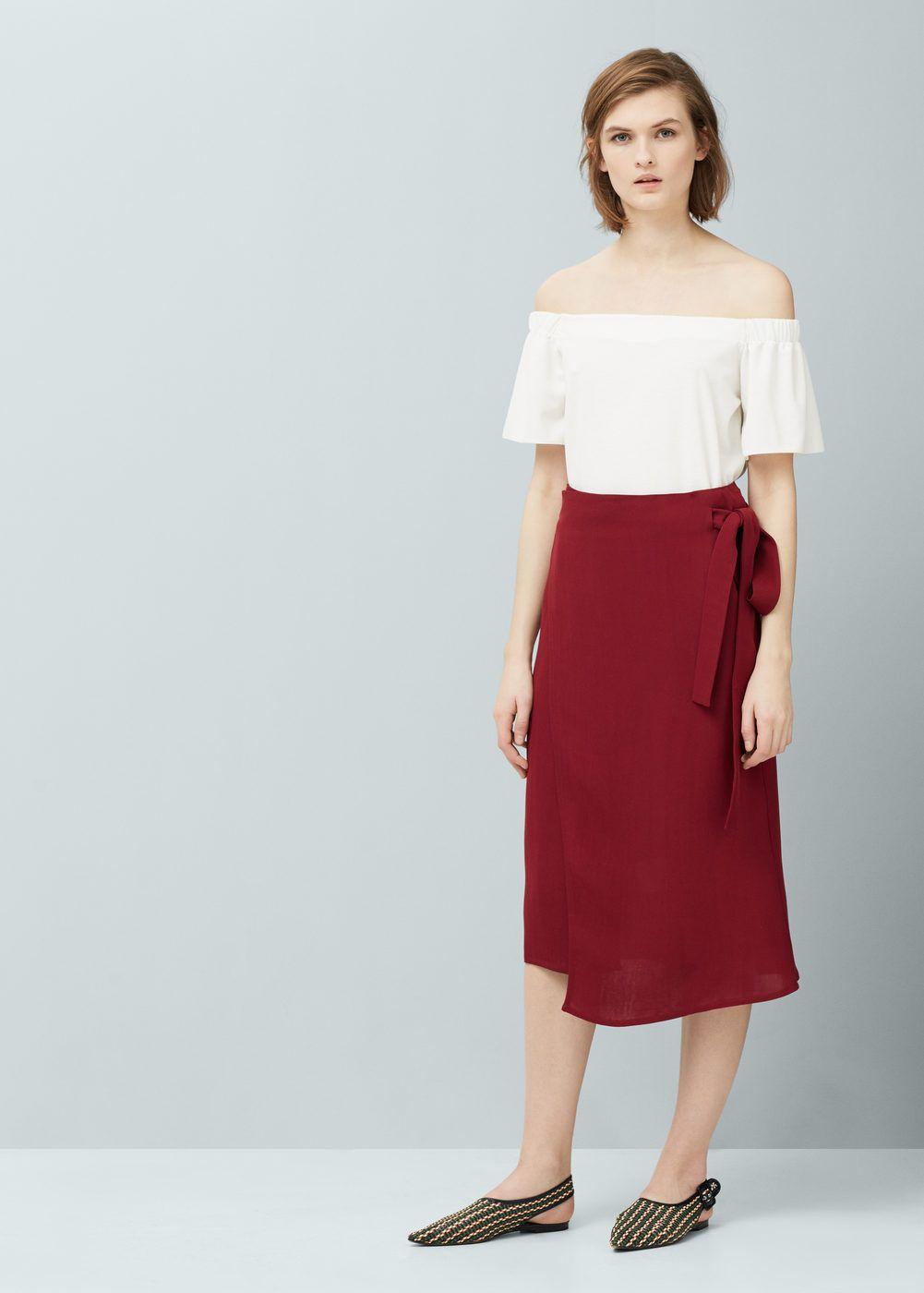 7ad1b1937fb9 Wrap flowy skirt - Woman