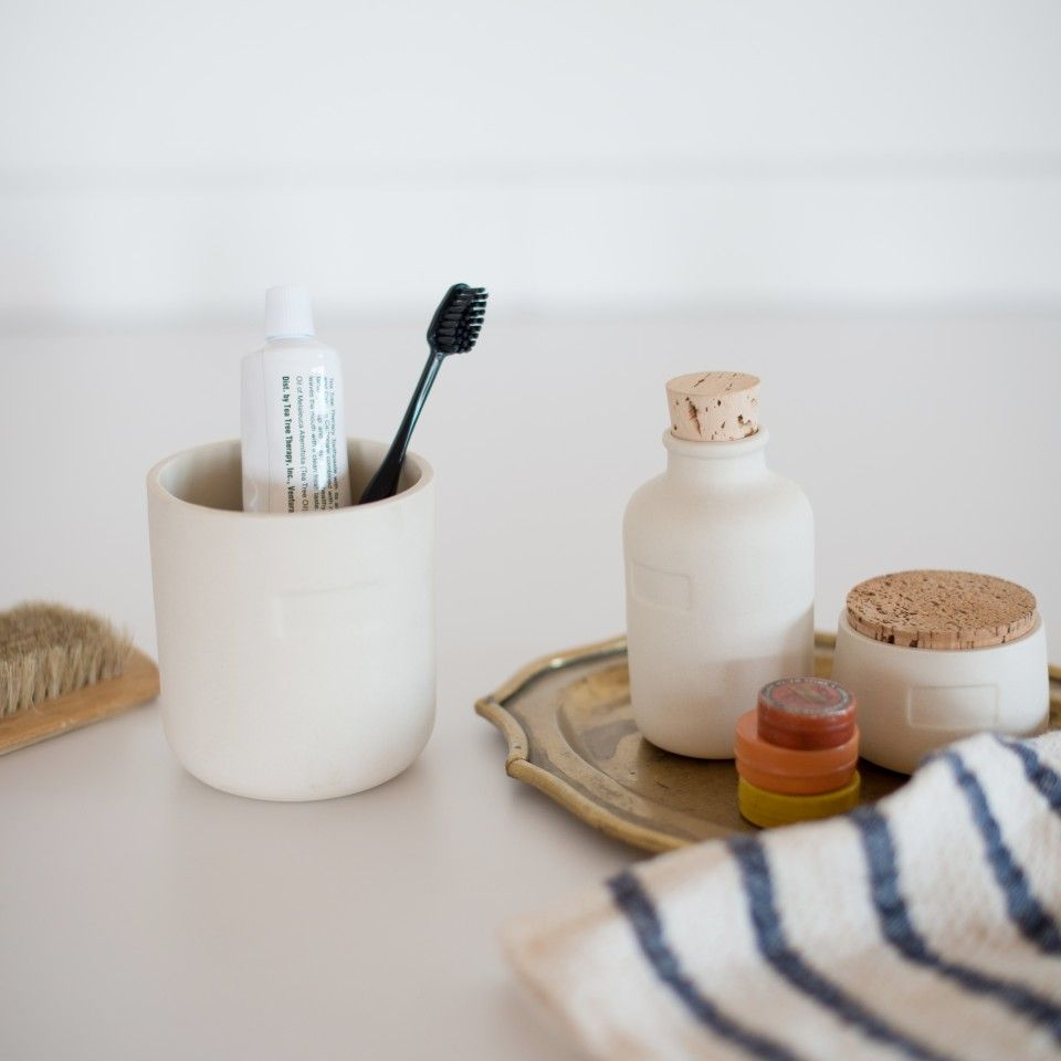 Keep your kitchen staples fresh with our Cork Top Canisters. Handmade from stone porcelain, the unglazed exterior allows for a nice grip. A clear, food-safe glaze inside helps preserve contents, while the cork top ensures an airtight seal. The bare aesthetic and natural materials make these multipurpose containers a beautiful detail in any room. Ashware is the handmade ceramics and design brand of Megumi Yoshida. Yoshida, a Brooklyn-based designer, is known for her materially elegant and…