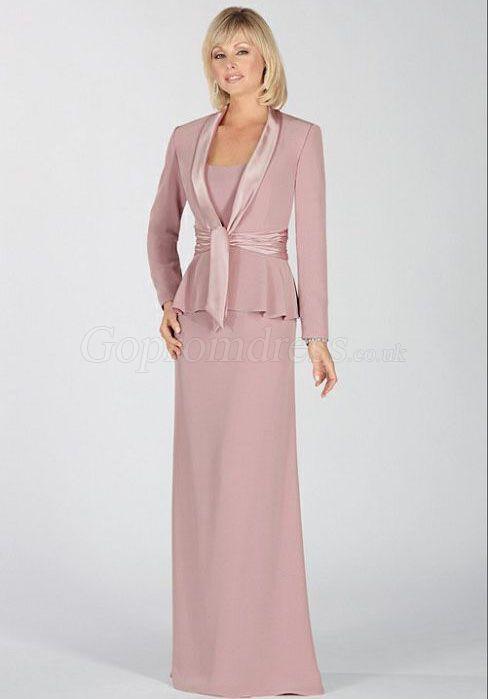 Sheath Chiffon Scoop Lavender Wrap ruffles Mother of the Bride Dress ...