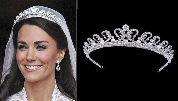 Kate Wedding Tiara Middleton Bridal Headpiece Vintage Style