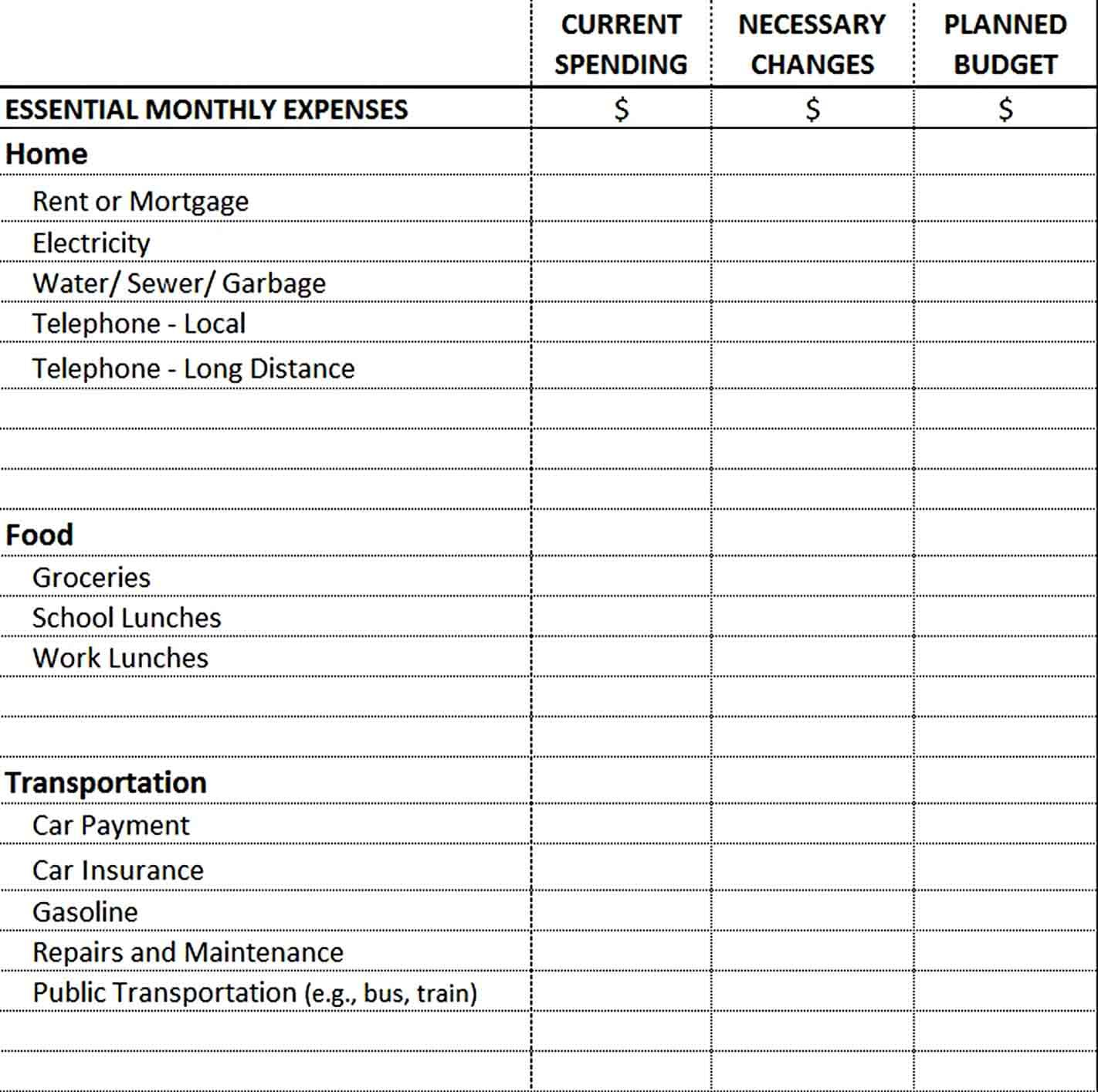 Excel Monthly Budget Template Monthly Budget Template Budget Template Personal Budget Template Capital expenditure budget template excel