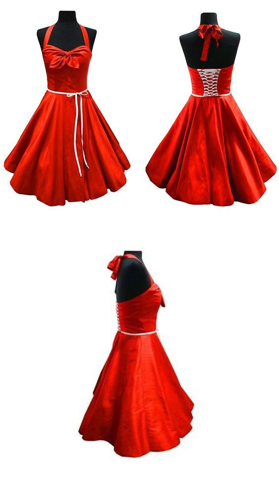 Petticoat Kleid mit Neckholder - Schnittmuster und Nähanleitung via ...