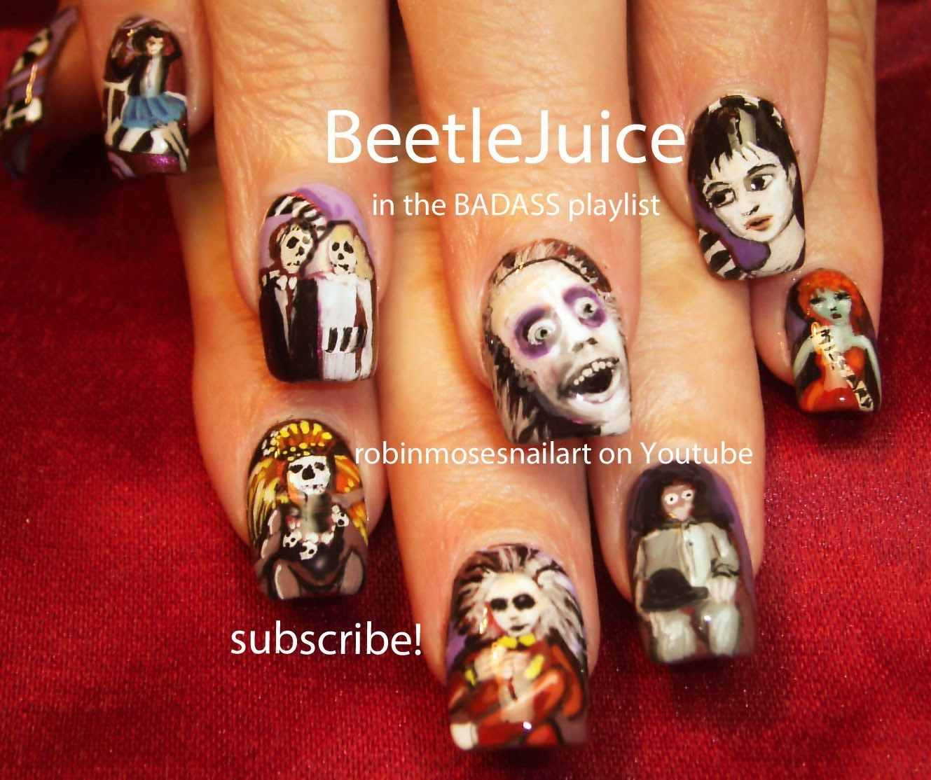 Halloween Nails Halloween Nail Art Horror Film Nails Scary