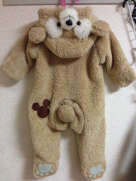 超簡単 赤ちゃん 子供用ダッフィーの着ぐるみの作り方 赤ちゃん ハロウィン 赤ちゃん 手作り 着ぐるみ 作り方