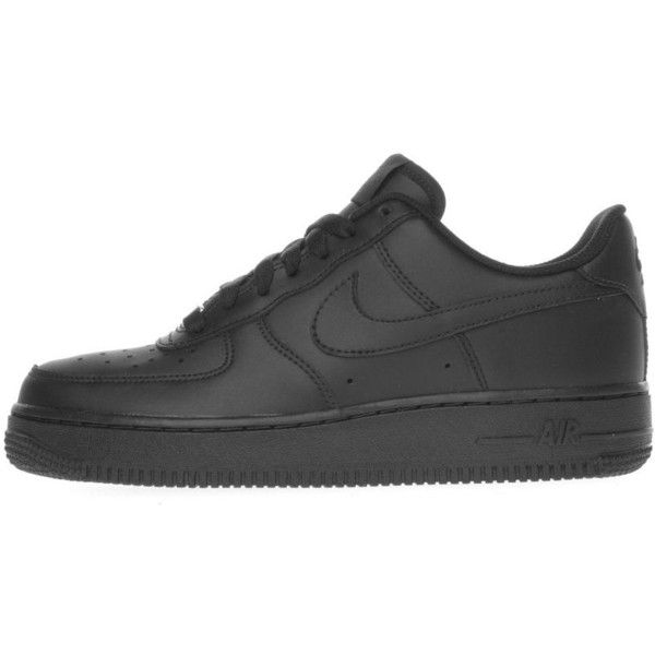 brand new bf2c7 0e5dc Nike Air Force 1 Lo found on Polyvore featuring shoes, nike shoes, black  shoes