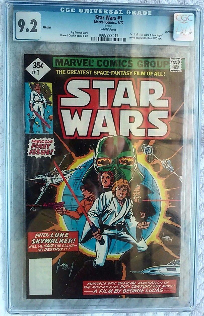 Star Wars 1 Comic CGC 92 35