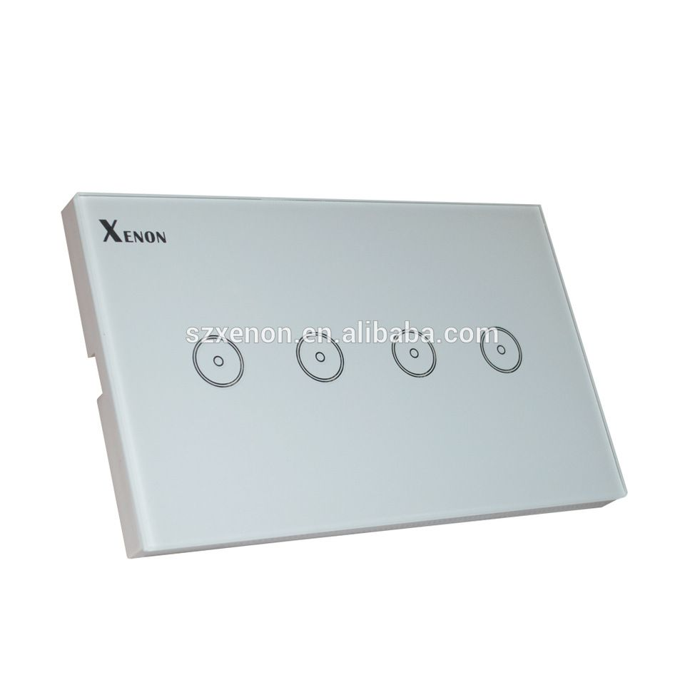 xenon wifi smart remote control wall switch 4 gang us light switch panel smart mobile control