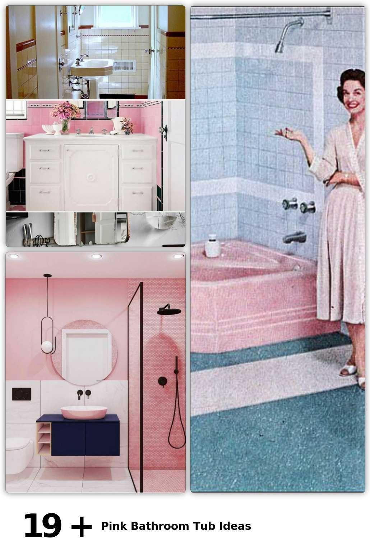 19 Pink Bathroom Tub Ideas Bathroom Ideas Pink Tub Bathroom Ideas Ideasbathroom Pink Tub In 2020 Pink Bathroom Bathroom Tub Bathroom
