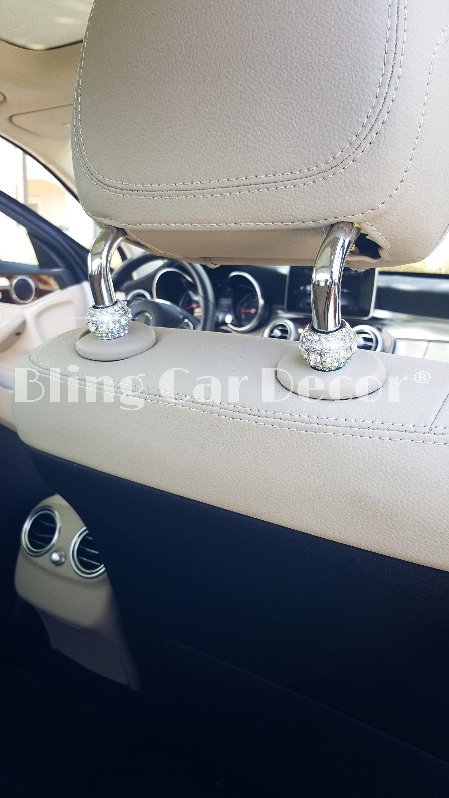 Crystal Car Seat Headrest Collar Charms Rhinestone Car