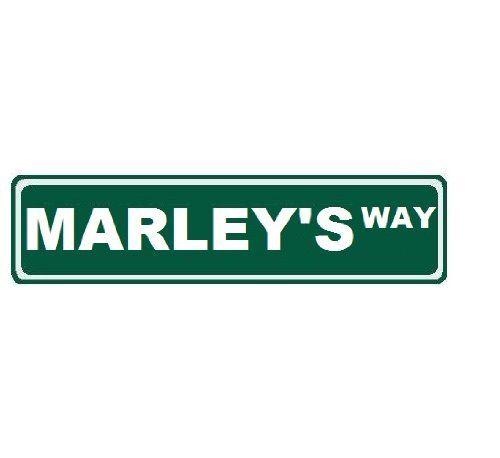 Street Sign Home Decor Impressive Marleys Way Custom Street Sign 6X24 Novelty Sign Home Decor 2018