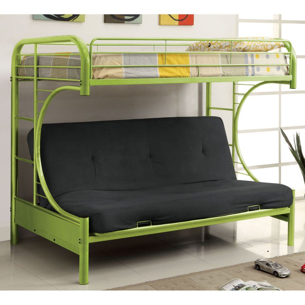 ravens contemporary twin over futon bunk bed - bunk beds & loft