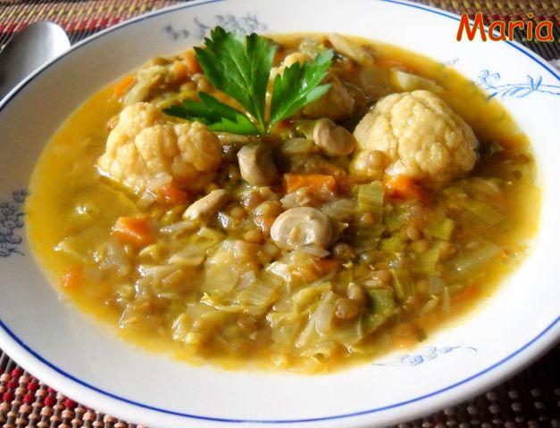 Sopa De Menestra De Verdura Y Lentejas Receta De Pensamiento Receta Sopa De Tomate Receta Verduras Lentejas Receta