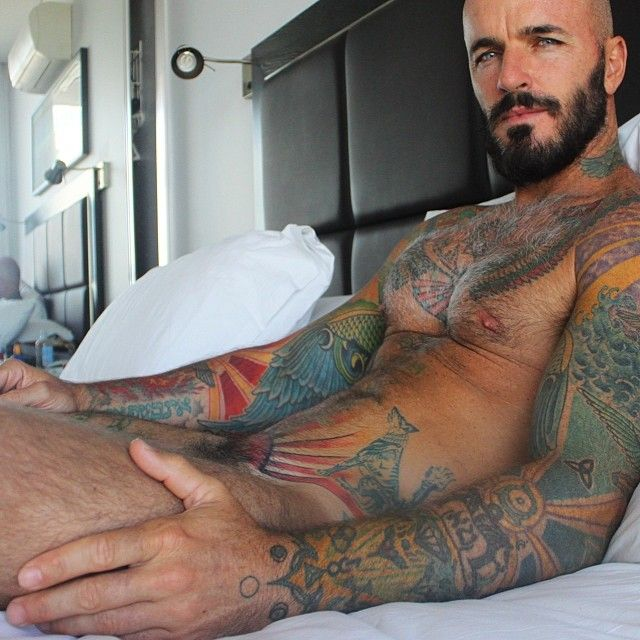 gay beard tattoo porn video