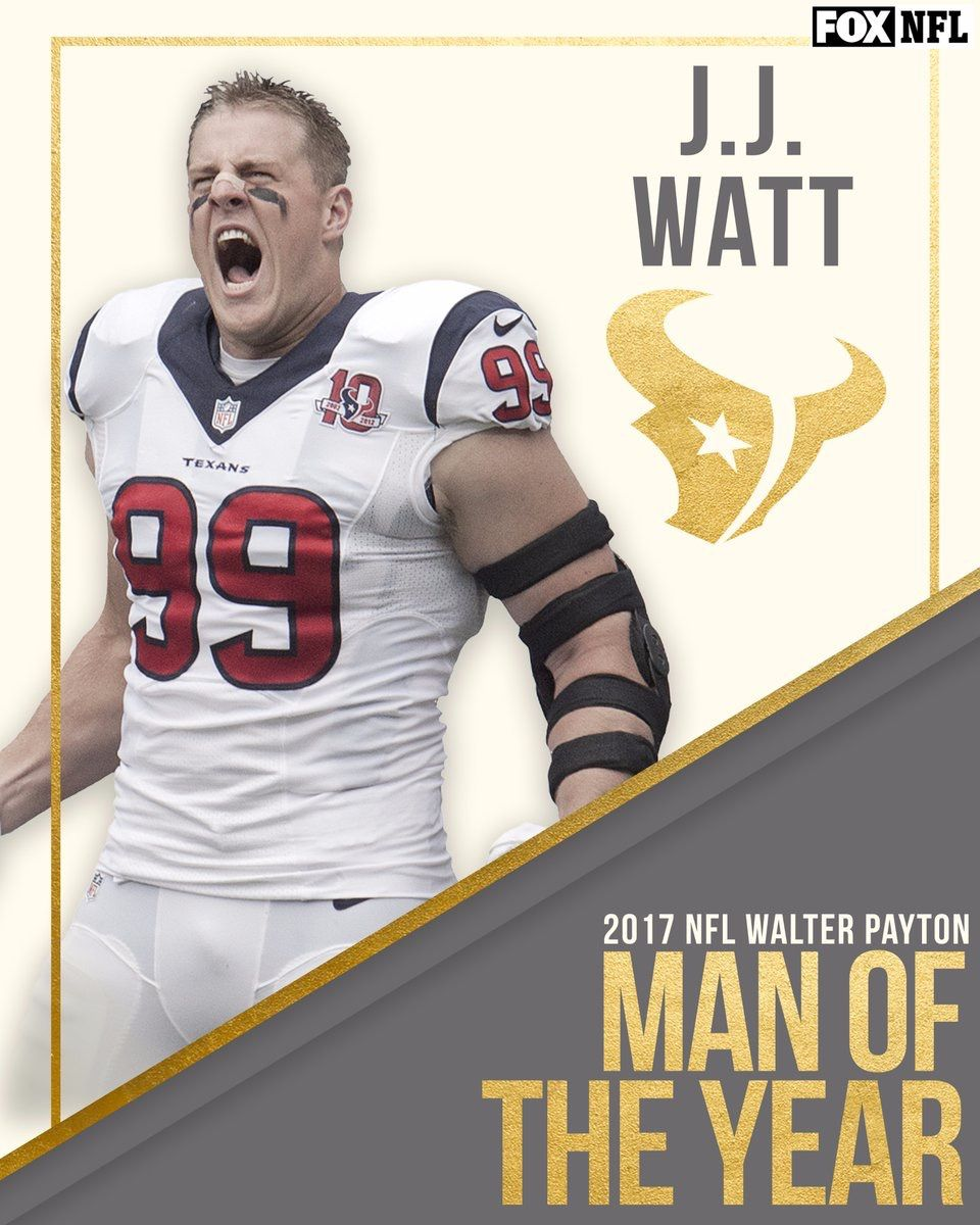 low priced aed33 235a8 J.J. Watt 2017 Walter Payton Man of the Year | Houston ...