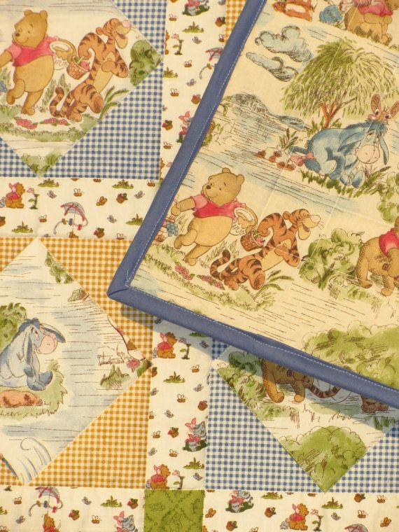 Disney's Winnie the Pooh Baby Quilt by KristinaRees on Etsy ... : disney baby quilts - Adamdwight.com