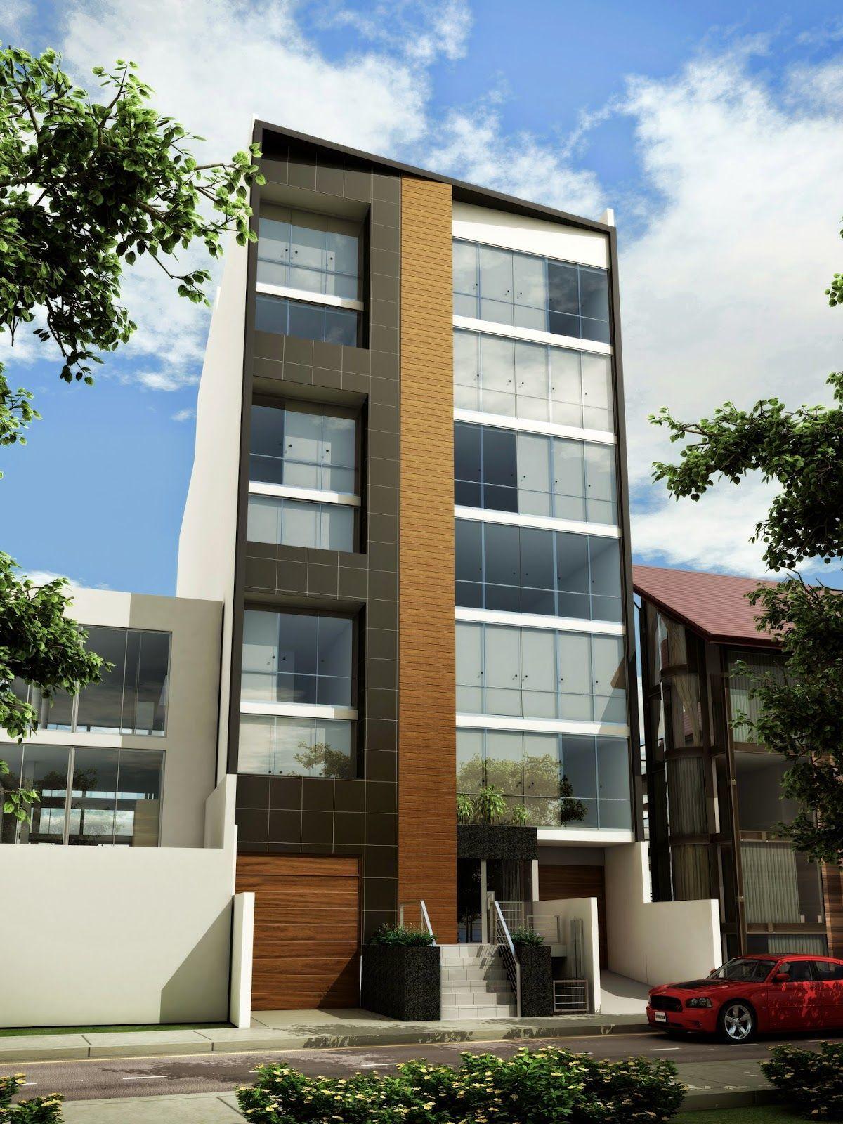 Fachadas de departamentos modernos buscar con google for Fachadas edificios modernos