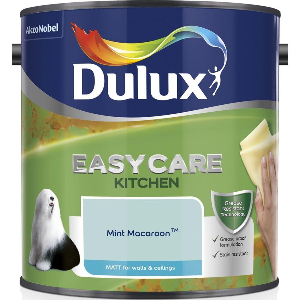 Dulux Easycare Kitchen Matt Emulsion Paint Mint Macaroon 2 5l Dulux Kitchen And Bathroom Paint Painting Bathroom