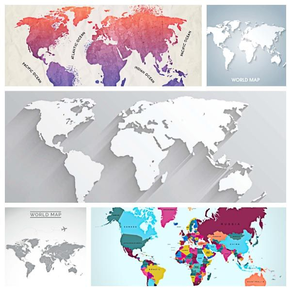 Modern world map background set vector mock ups lightroom presets modern world map background set vector vector free downloadworld gumiabroncs Choice Image