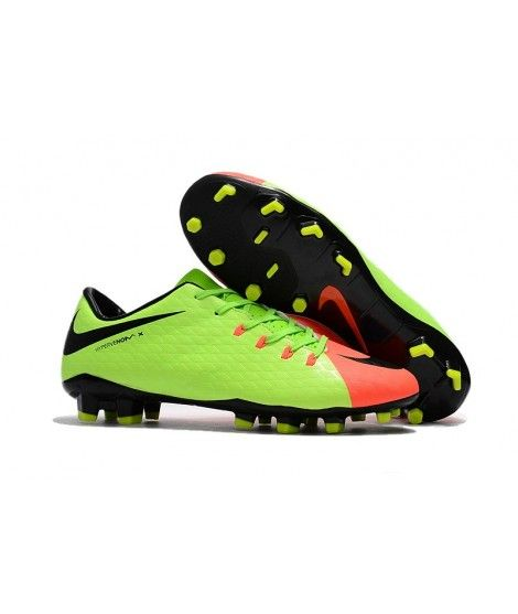 Nike Hypervenom Phelon 3 FG PEVNÝ POVRCH Zelená Oranžový Černá Laceless  Kopačky 7a25c71cf