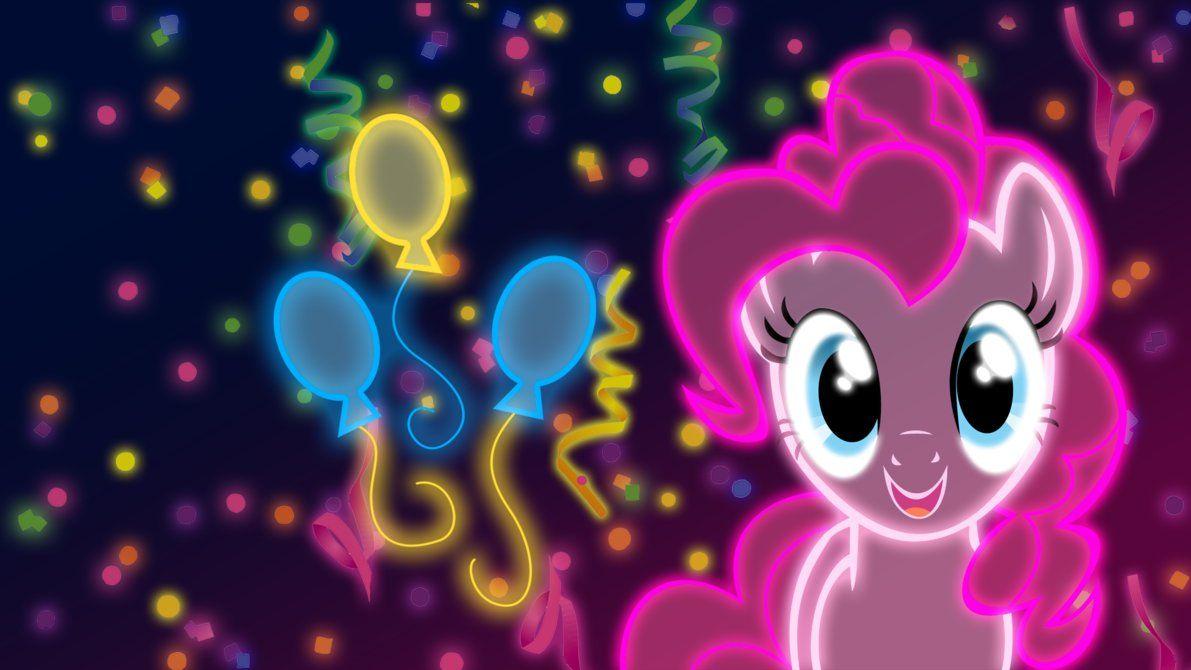 Neon Pinkie Pie Wallpaper By Zantyarz On Deviantart Imagenes My