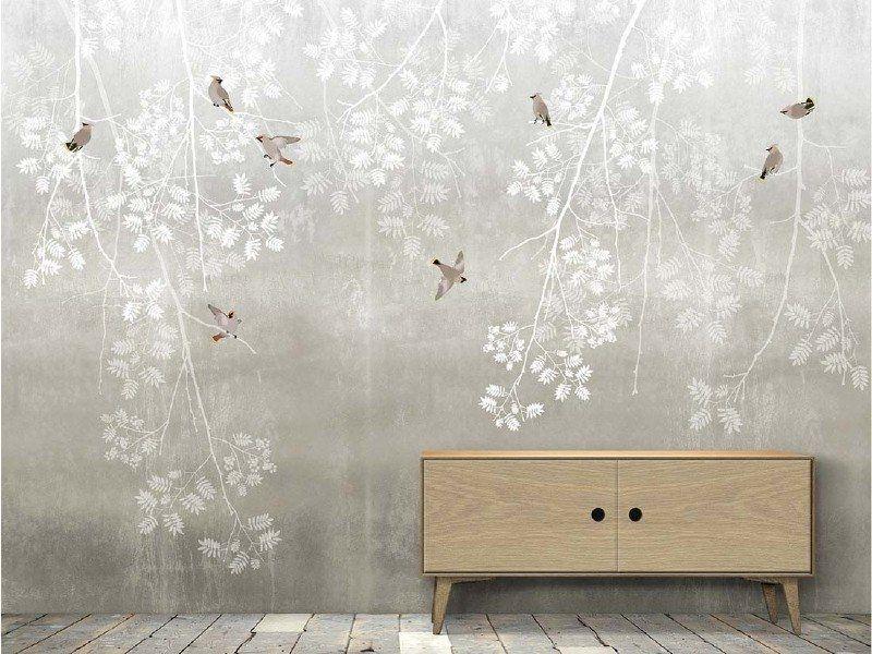 Bohemian Birds 2 Colors Behangfabriek Com Wallpaper Decor Scandinavian Wallpaper Wall Deco