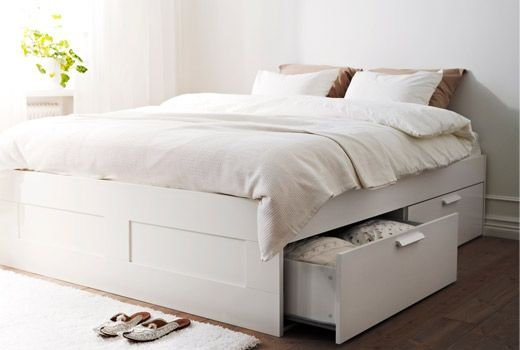 Storage Beds For Keeping Your Bedroom Clean And Organised Yonohomedesign Com In 2020 Bed Frame With Storage Ikea Bed Frames White Bed Frame