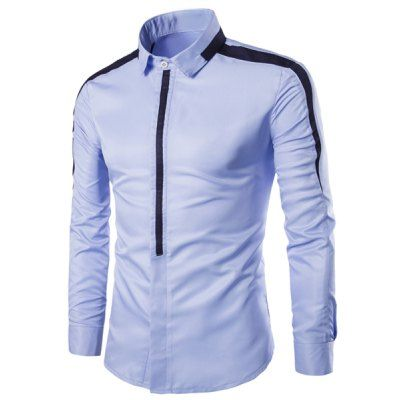 Abetteric Mens Irregular Long Sleeve Button-Down Banded Collar T-Shirts Shirts