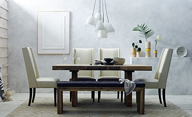I love the west elm rustic modern dining room on westelm