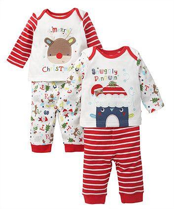 Mothercare Unisex Christmas Pyjamas - 2 Pack - pyjamas - Mothercare ... 7db539f62