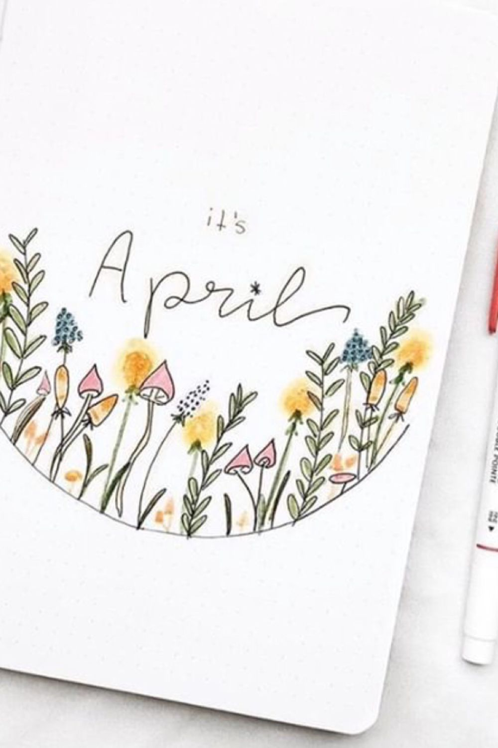 25 Wonderful April Bujo Spreads You Need to See - atinydreamer