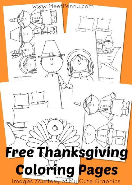 Free Printable Thanksgiving Coloring Pages   Accion de gracias ...