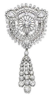 diamond brooch, circa 1910
