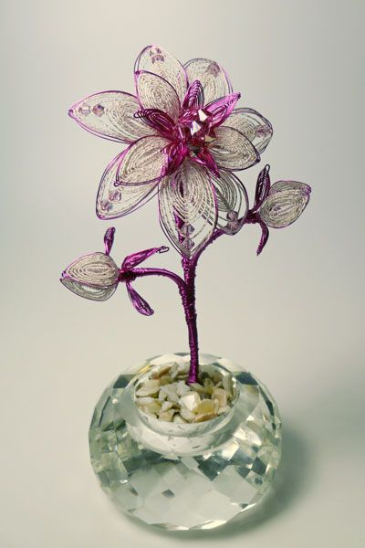 bead and wire flowers