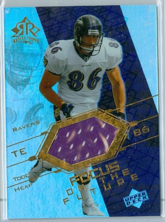 2004 ud reflections football todd heap focus on the future jersey card #fo-th from $2.95