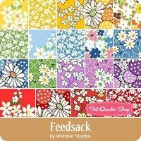 Sunbonnet Spring Flowers Fabric Pack remnants patchwork bundles 100/% cotton